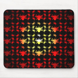 Halloween Hotspot Color Spiders Mouse Pad