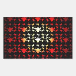 Halloween Hotspot Color Spiders Rectangular Sticker