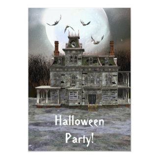 Halloween House 5 x 7 Invitation