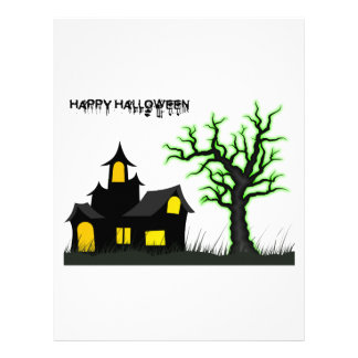 Halloween House and Green Tree Letterhead