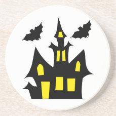 halloween house drink coaster