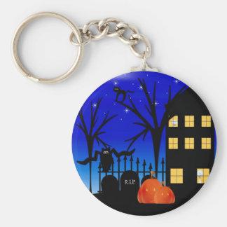 Halloween House Keychain