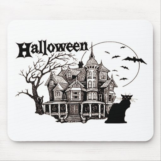 HALLOWEEN HOUSE MOUSE PAD