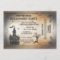Halloween House Party Invite Horror Spooky Ticket