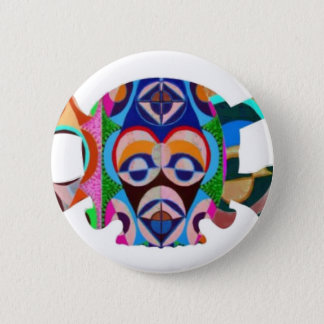 Halloween : Human n Monster Face to SKULL Pinback Button