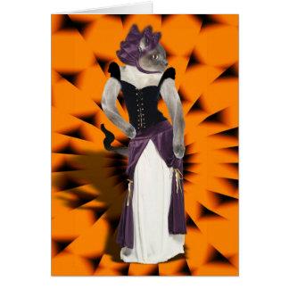 Halloween Hussy Greeting Card