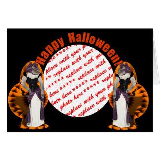 Halloween Hussy / Halloween Cat Greeting Card
