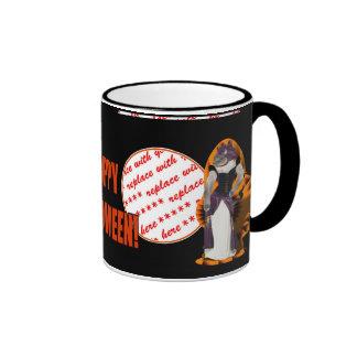 Halloween Hussy / Halloween Cat Ringer Coffee Mug