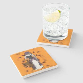 Halloween Hussy - Siamese Cat Stone Beverage Coaster