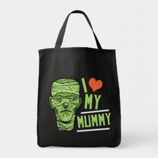 Halloween I Love my Mummy Tote Bag bag