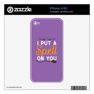 Halloween - I Put A Spell On You Decal For The iPhone 4