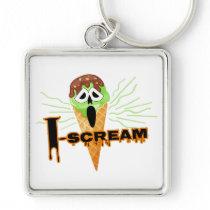 Halloween I Scream Cone square Keychain