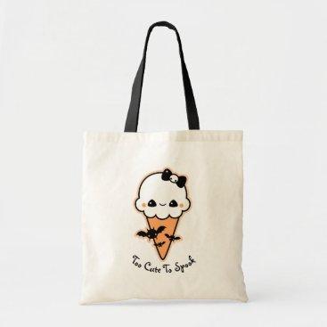 Halloween Themed Halloween Ice Cream Cone Trick or Treat Tote Bag