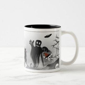 Halloween Icons And Characters Two-Tone Mug