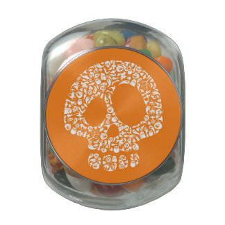 Halloween Icons - Skull Jelly Belly Candy Jar