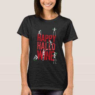 Halloween idea Happy Hallowine skeleton wine party T-Shirt