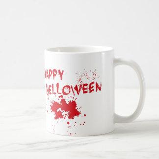 """Halloween idea: """"Happy Helloween"""" written in blood Coffee Mug"""