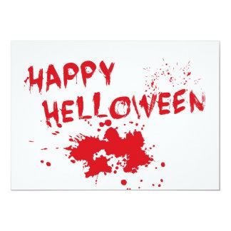 "Halloween idea: ""Happy Helloween"" written in blood Invitations"