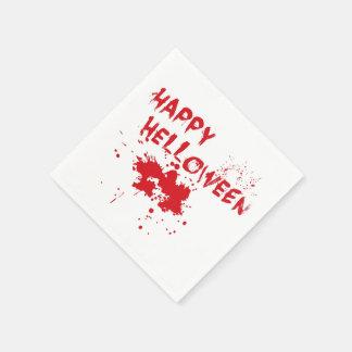 """Halloween idea: """"Happy Helloween"""" written in blood Paper Napkin"""
