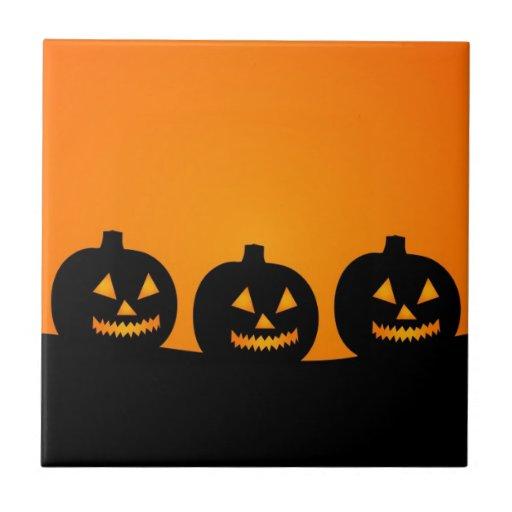 Halloween Illustration Small Square Tile