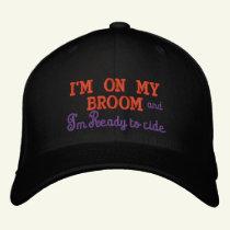 Halloween I'm on my broom-Embroidered Baseball Cap