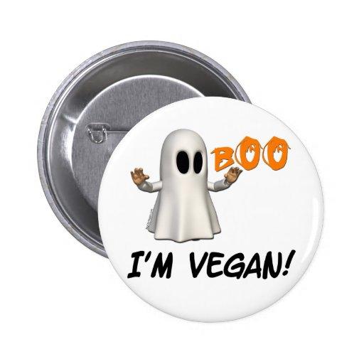 Halloween I'm Vegan Buttons