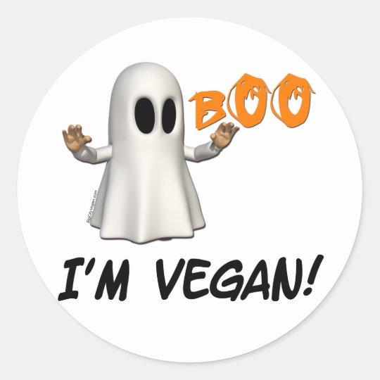 Halloween I'm Vegan Classic Round Sticker