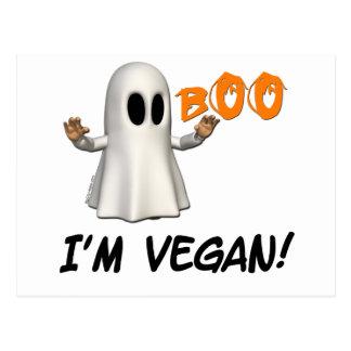 Halloween I'm Vegan Post Card