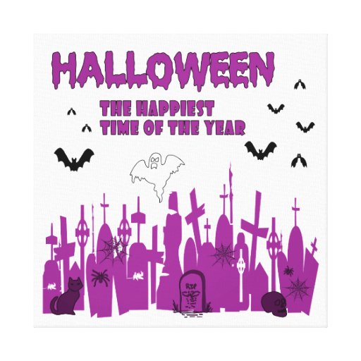 Halloween Impresiones En Lienzo Estiradas