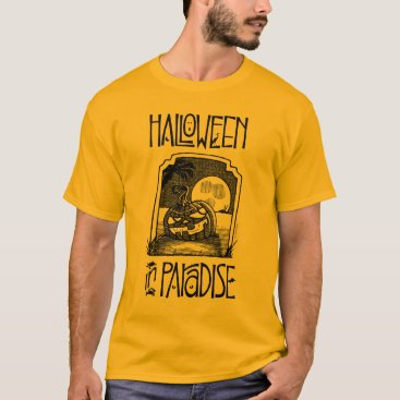 Beach Themed Halloween In Paradise Men's Long Sleeve T T-Shirt