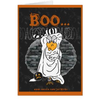 Halloween in prison card: 'Boo...Hoo'. Card