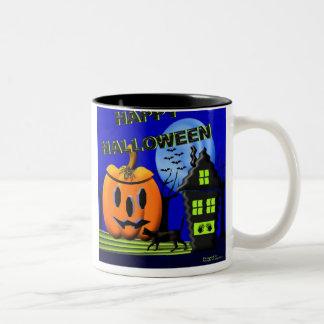 Halloween inlarge Two-Tone coffee mug