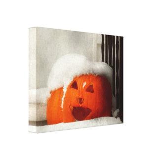 Halloween - invierno - soy frío lona envuelta para galerías