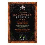 Halloween invita - a la frontera con el cráneo y l invitaciones personalizada