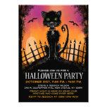 Halloween invita - al gato asustadizo en cementeri