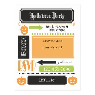 Halloween invita postal