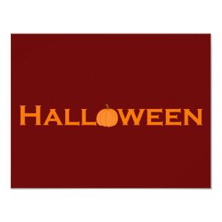 Halloween 4.25x5.5 Paper Invitation Card