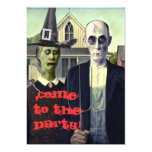"Halloween Invitation ""American Gothic Halloween"""