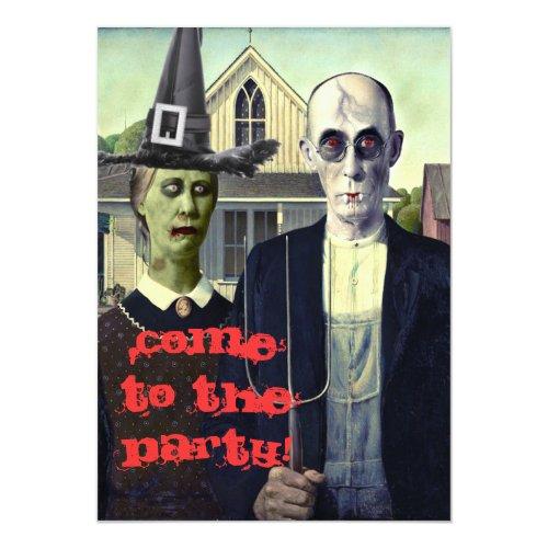 Halloween Invitation American Gothic