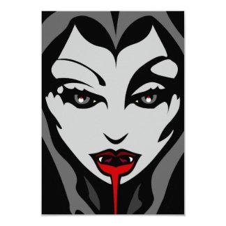 Halloween Invitation Custom Halloween Vampire Card