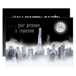 Halloween Invitation-Ghostly-Graveyard Card