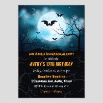 Halloween invitation, Halloween birthday party Invitation