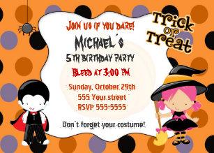 kids halloween invitations zazzle