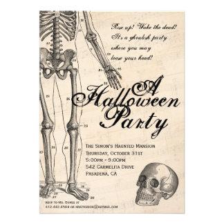 Halloween Invitation Mr Bones Skeleton Party