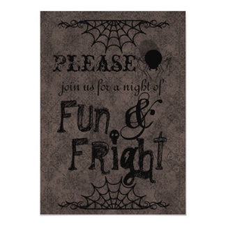 Halloween Invitations In Brown