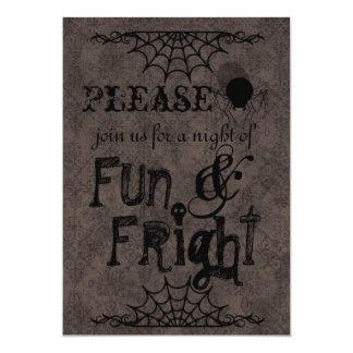 Halloween Invitations In Brown