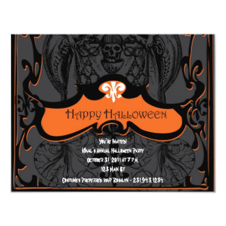 Halloween Invitations Scary Cards