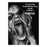 Halloween  Invitations Scream