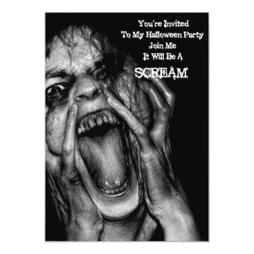 Macabre_artwork Halloween  Invitations Scream