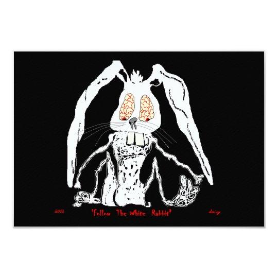 Halloween Invitations White Rabbit decorative scar